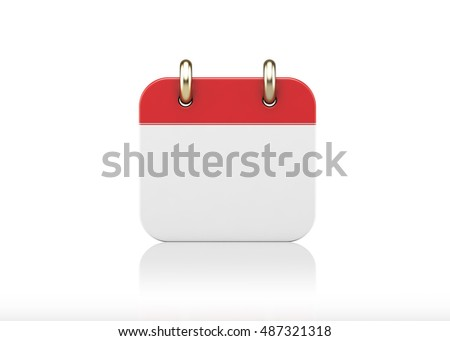 3d illustration of an calendar icon isolated on white background. #487321318
