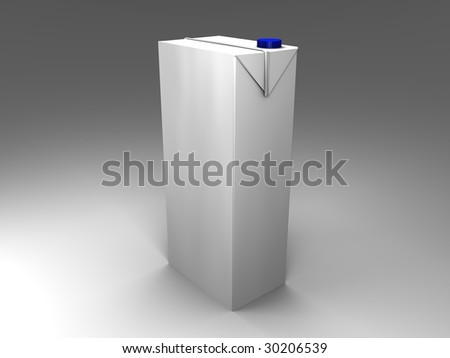 3d illustration of an isolated carton with blue screw cap