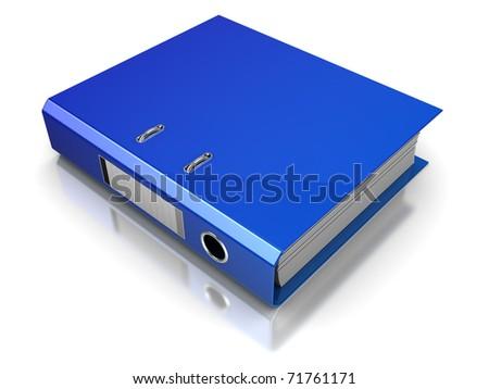 3d illustration of archive folder, over white