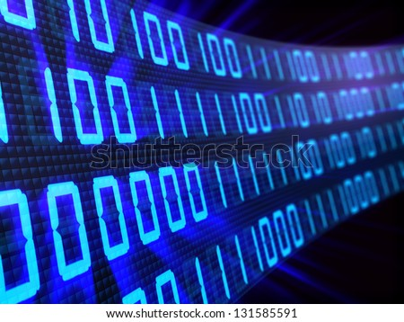 3d illustration of binary background
