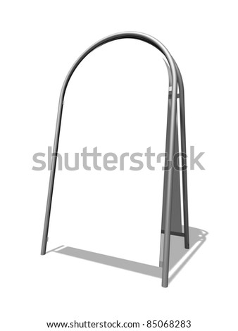 3d illustration of blank Sandwich Board on white background