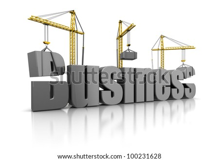 3d illustration of building business concept