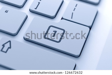 3d illustration of calendar icon button on keyboard with soft focus