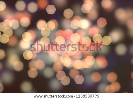 2d illustration of christmas bokeh on dark background. abstract texture. Defocused background. Blurred bright light. Circular points. Christmas eve time. Colorful circles. #1238530795