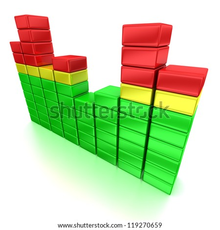 3d illustration of colorful equalizer pattern