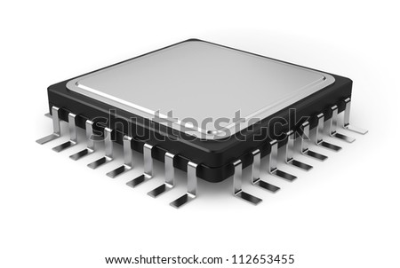 3d illustration of computer processor isolated on white background