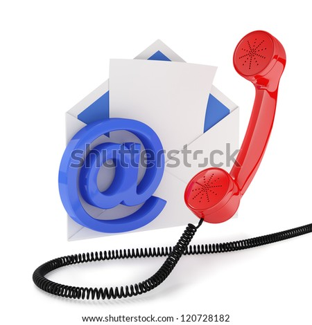 3d illustration of comunication concept. Isolated on white background