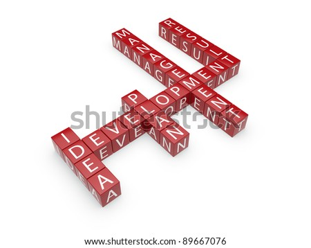 3d illustration of cross text isolated on white background