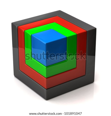 3d illustration of cube