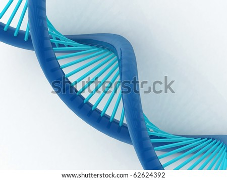 3d illustration of dna in white background