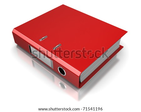 3d illustration of documents folder, over white background