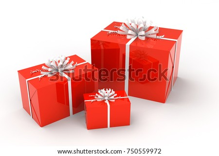 3d illustration of gift boxes