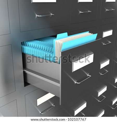 3d illustration of information search metaphor