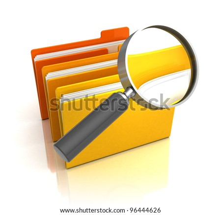 3d illustration of information searching concept