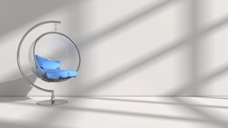 3D illustration of interior design