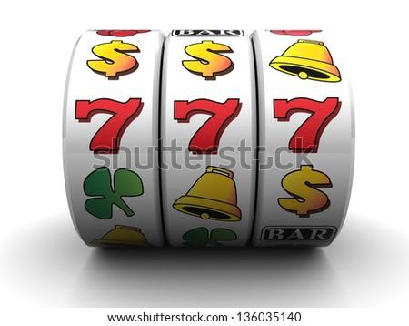 3d illustration of jackpot symbol over white background