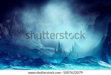 3d illustration of landscape...