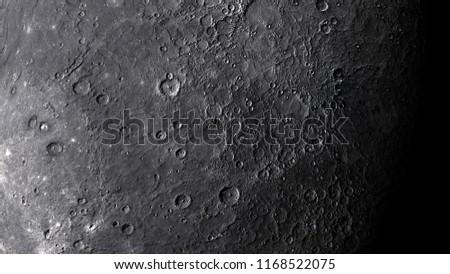 3D illustration of Mercury planet surface