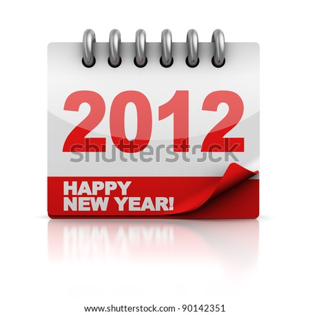 3d illustration of new 2012 year calendar