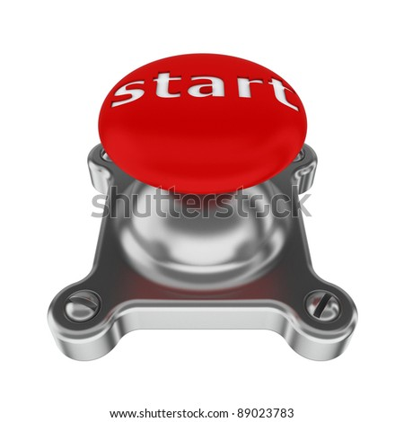 "3d illustration of red button with ""start"" caption"