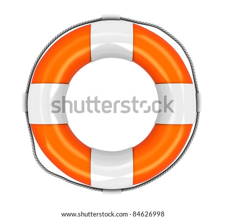3d illustration of rescue circle isolated over white background