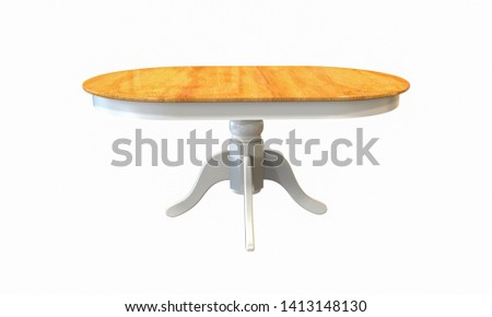 3d illustration of rustic countrystyle table on a white background #1413148130