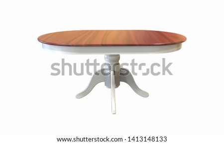 3d illustration of rustic countrystyle table on a white background #1413148133