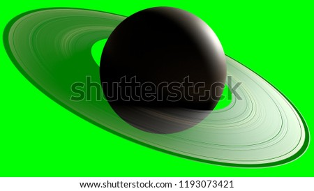 3d Illustration of Saturn planet with chroma key background #1193073421