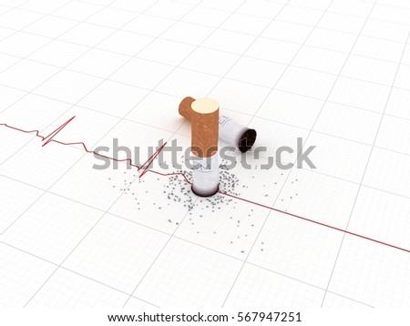 3D illustration of Smoking Kills Idea