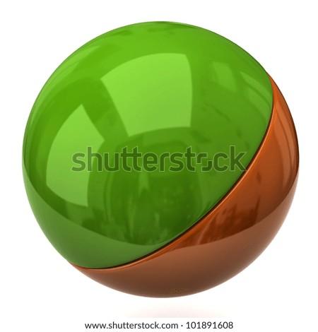 3d illustration of sphere