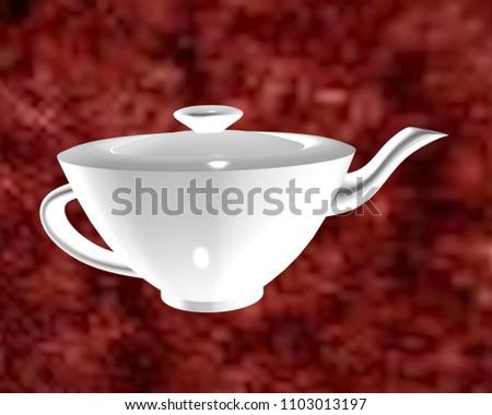 3d illustration of teapot