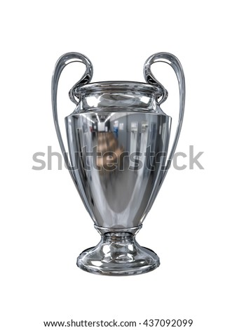 3d illustration of the champions cup isolated on white background