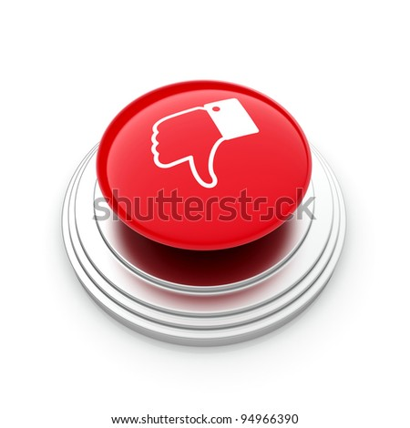 "3d illustration of ""Unlike"" button isolated on white background"