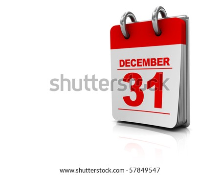 3d illustration of white background with calendar at right side