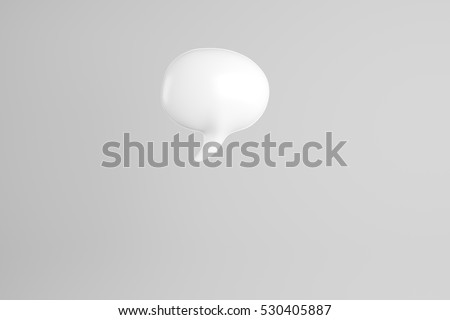 3D illustration of white speech bubble