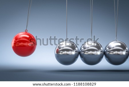 3D illustration pendulum