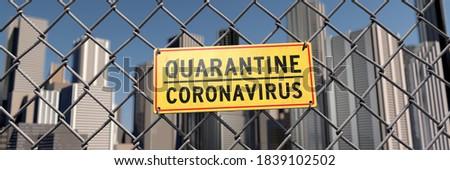 3D illustration, Quarantine in the city due to Coronavirus Stock fotó ©