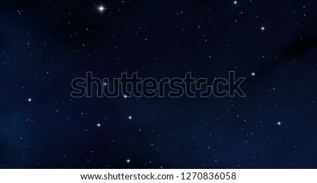 2d illustration. Realistic star pattern background. Deep interstellar space. Stars, planets and moons. Various science fiction creative backdrops. Space art. Imaginary cosmic backdrop.