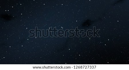 2d illustration. Realistic star pattern. Deep interstellar space. Stars, planets and moons. Various science fiction creative backdrops. Space art. Imaginary cosmic backdrop. #1268727337