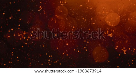 3d illustration red bokeh flame bokeh hot backdrop Blurred background with blinking stars blurry bokeh