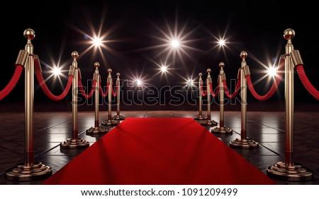 3D Illustration red carpet