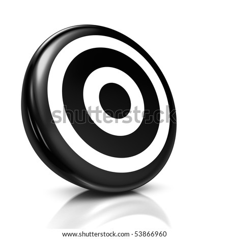 target. of a black target