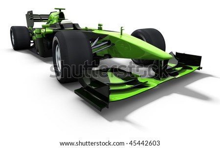 3d illustration/rendering of a green race car isolated - my own car design