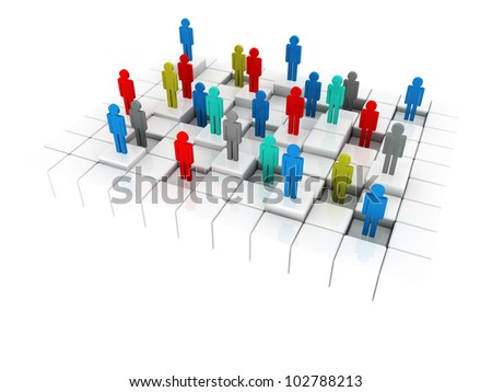3d illustration representing a social inequality in business and in a life