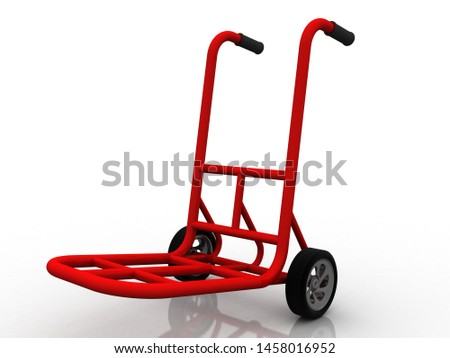 3d illustration Shopping Cart trolly