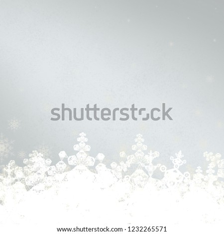 2d illustration. Snowflake pattern on colorful background. Holy Christmas day event time. Decorative paper card. Christmas Eve. Celebration time decoration texture. #1232265571
