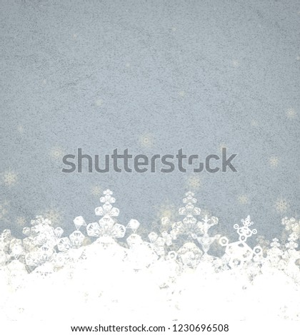 2d illustration. Snowflakes on background. Holy Christmas event time. Decorative colorful. Christmas Eve decoration texture images. Celebration paper card. #1230696508