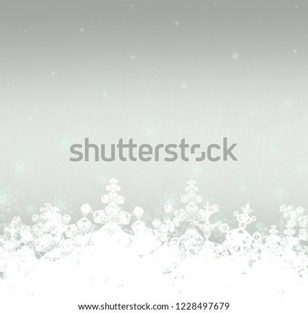 2d illustration. Snowflakes on colorful background. Holy Christmas event time. Decorative paper card images. Christmas Eve decoration texture. #1228497679