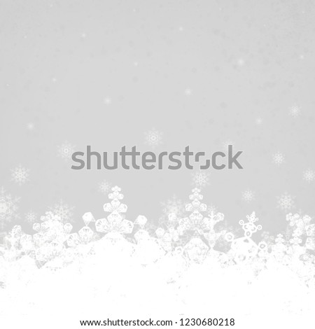 2d illustration. Snowflakes on colorful background. Holy Christmas event time. Decorative paper card. Christmas Eve. Celebration time decoration texture. #1230680218