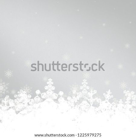 2d illustration. Snowflakes on colorful background. Holy Christmas time texture. Decorative paper card image. Christmas Eve decoration images. #1225979275